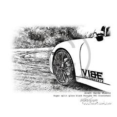 Avant Garde Wheels   Pencil Drawing Pencildrawing by www.autozeichnungen.net