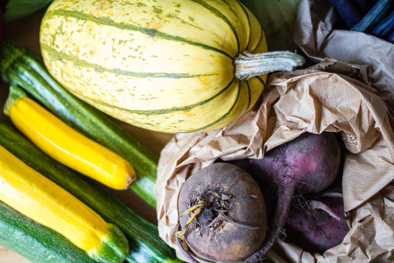 squash, courgettes, beets