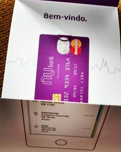 chegou hoje meu cartão sem anuidade, sem taxas #Nubank #SouNu #SouNubank
