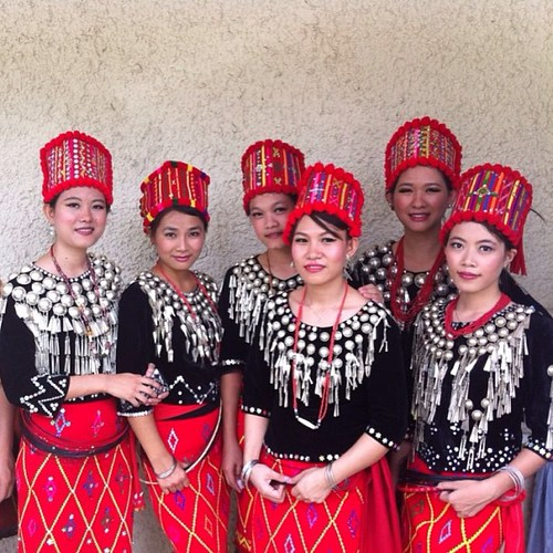 Kachin dance performers at yeo's building...