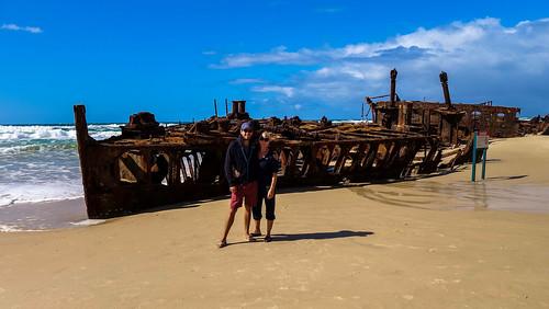 Das Schiffswrack der SS Maheno