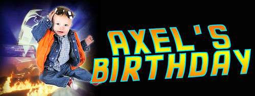 Axel's Back to the Future Birthday