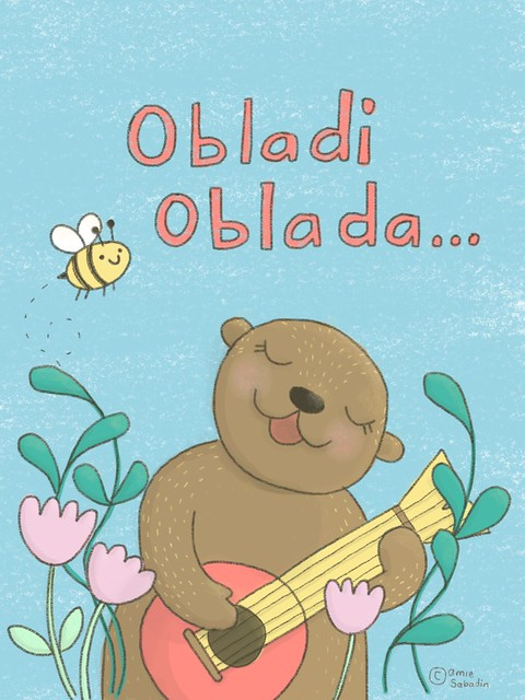 Obladi Oblada! Illustration for the 52 Week Illustration Challenge, week 41 - Instrument. By Amie Sabadin