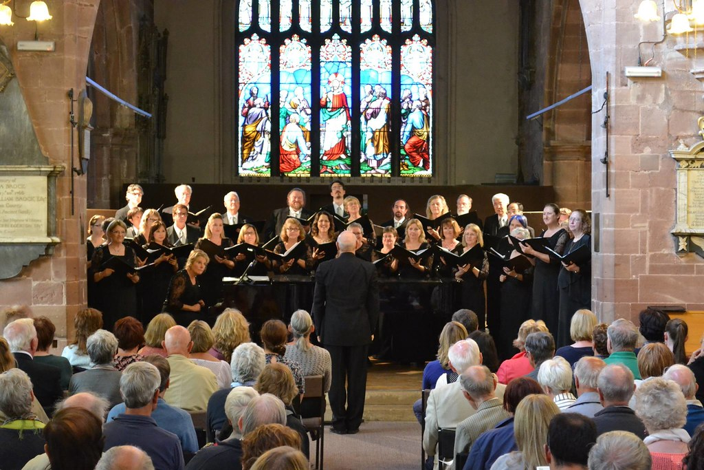 Mission Peak Chamber Singers performs in St. Mary's Centre in Chester, England
