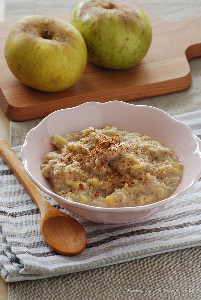 Oat apple  porridge