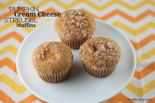 Pumpkin Cream Cheese Streusel Muffins
