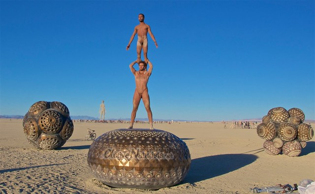naturist acro-yoga gymnasium 0014 Burning Man 2015, Black Rock City, Nevada, USA