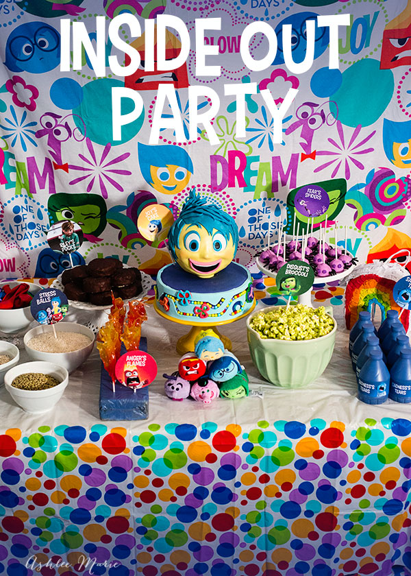 throw a party or have a family movie night for Disney's Inside Out with these easy decorations, recipes and treats! a food item for each character, a cake and of course activities and printables