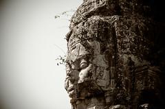 Angkor Thom - buddha profile