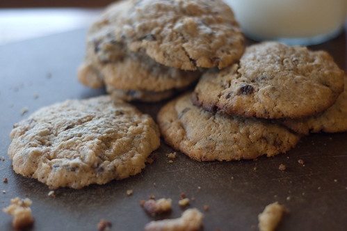 Peanut Butter Chocolate Chip Cookies, lightly spiced with cardamom and ginger