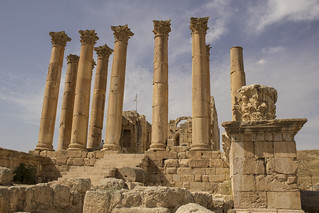 Image of  Jerash  near  Jarash. roma jordan ruinas romanempire jerash jordania corintio gerasa antioquía