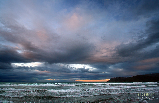 sunset colors at Sabang Beach