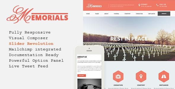 Memorials v2.3.0 – Responsive Funeral WordPress Theme