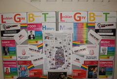 Bolton College's LGBT Display