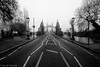 London Hammersmith Bridge on a Foggy Day