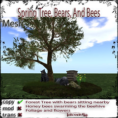 Spring Tree, Bears, Bees