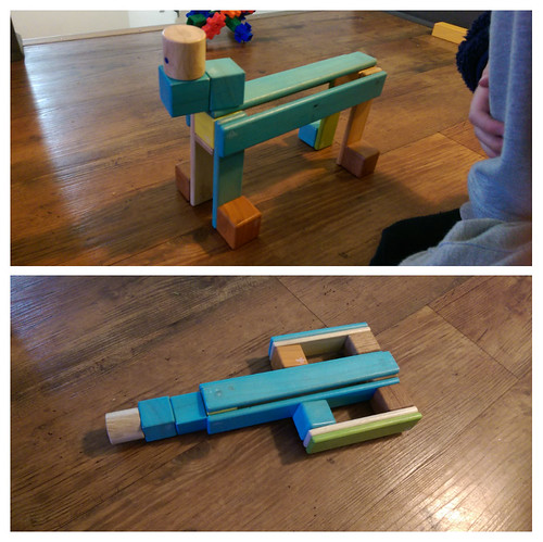 My 5yo wanted to enter the building contest this month! He created this Robotic dog that transforms into a rocket :)