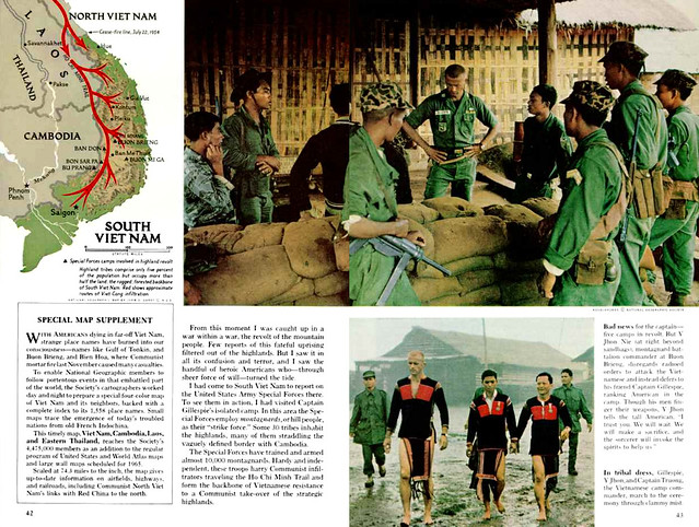 NATIONAL GEOGRAPHIC Magazine January 1965 (4) - AMERICANS IN ACTION IN VIETNAM