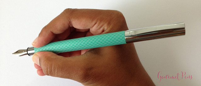 Review Faber-Castell Ambition OpArt Aqua Fountain Pen @goldspotpens @FaberCastell (11)