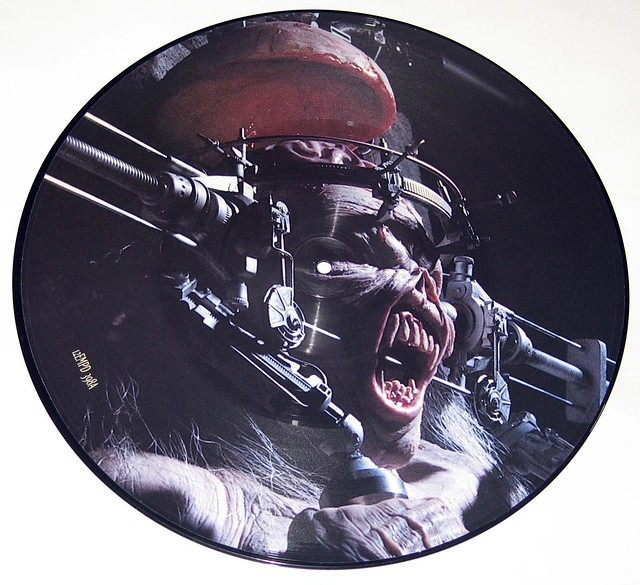 "IRON MAIDEN Man on the Edge 12"" Picture Disc + Huge Poster"