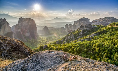 sunset summer sunlight nature beautiful landscape nikon warm colours greece monastery resting meteora peacefull zalazak 2015 grcka sumrak meteori nikkor1685vr nikond7000
