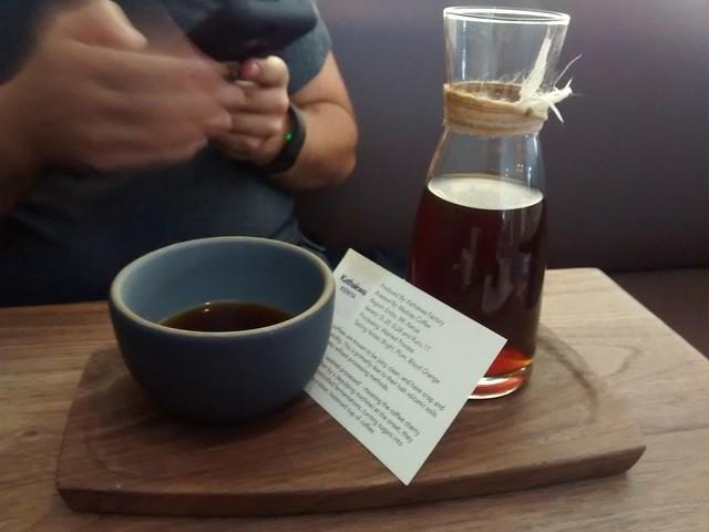 Kathakwa single-origin coffee. Really citrusy, interesting coffee.