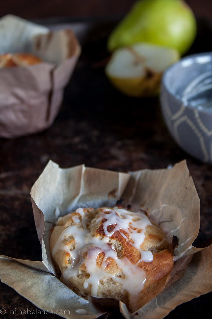Pear and Cardamom Muffins | www.infinebalance.com #recipe