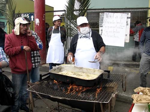 Preparando la merluza frita