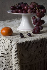 Still Life with Tangerine and Grapes