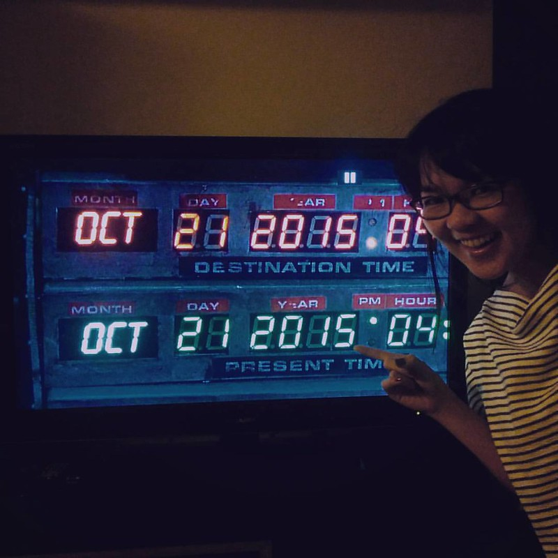 We were a little late but we made it! #backtothefuture