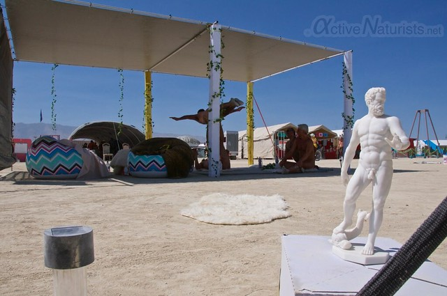 naturist gymnasium 0015 Burning Man 2015, Black Rock City, Nevada, USA