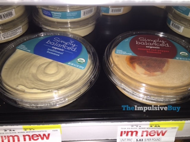 Simply Balanced Organic Traditional Hummus and Roasted Red Pepper Hummus