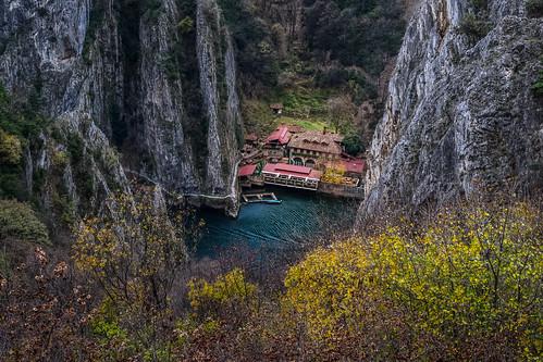 autumn lake landscape rocks autumncolors macedonia matka matkalake lakematka