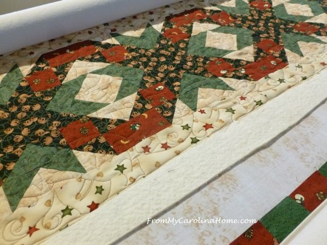 Christmas Quilt along quilting 3