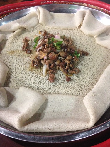 Our first injera.