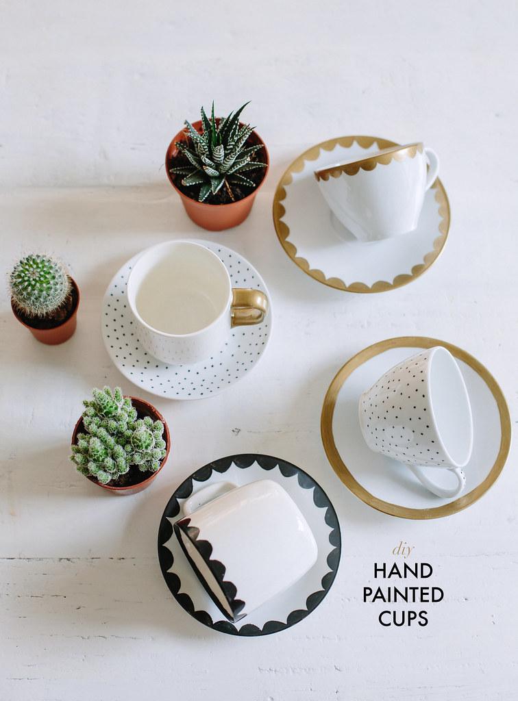 Diy Hand Painted Tea Cups Collective Gen