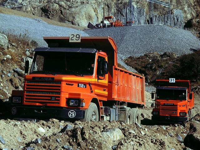 Самосвал Scania T112E 6x4. 1982 – 1990 годы