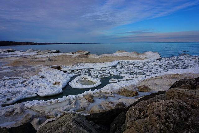Lake Ontario at Seabreeze Ice Chunks