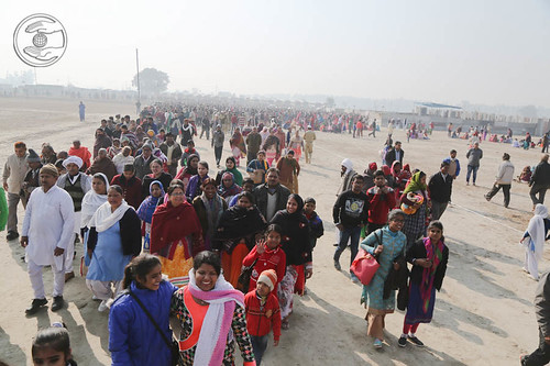 Arrival of devotees in the Samagam campus