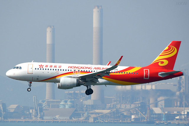 Hong Kong Airlines A320 B-LPO HKG Feb 17