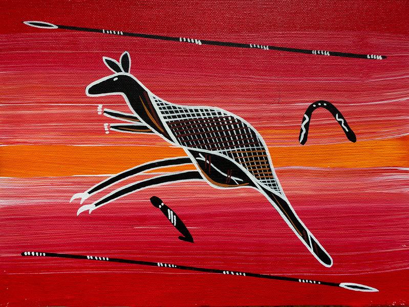 Kangaroo painting 001-1-2