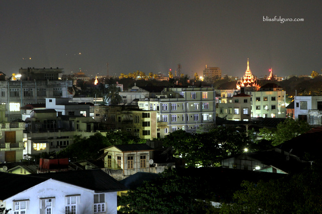 Mandalay Myanmar Night Skyline