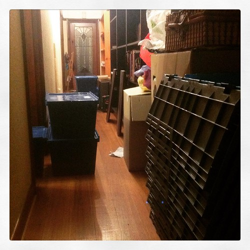 the hallway following moving day