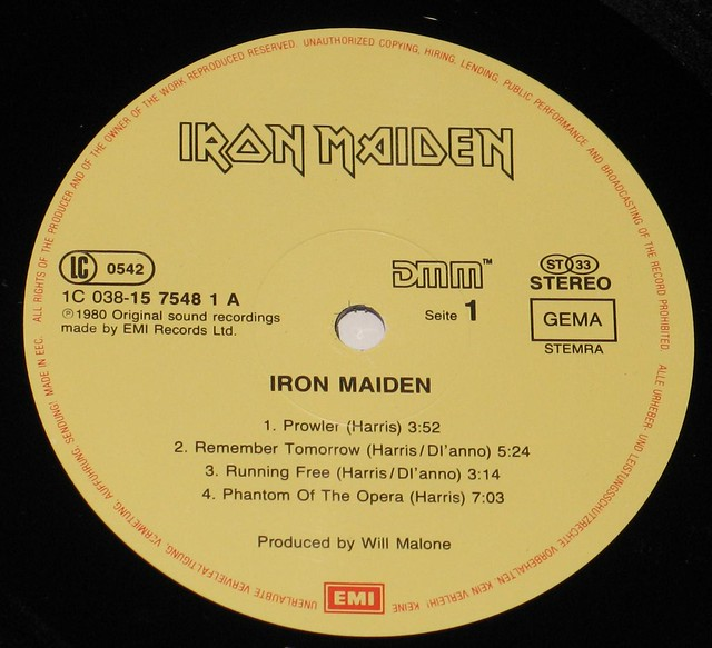 "IRON MAIDEN - IRON MAIDEN S/T self-titled EEC 12"" VInYL LP DMM"