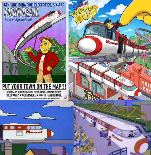 Simpsons Monorails from show and game