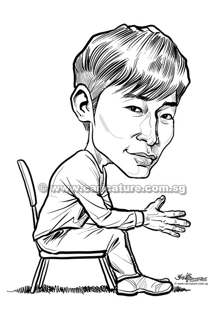 梁文福 digital caricature for Mediacorp TV Singapore Pte Ltd (watermarked)