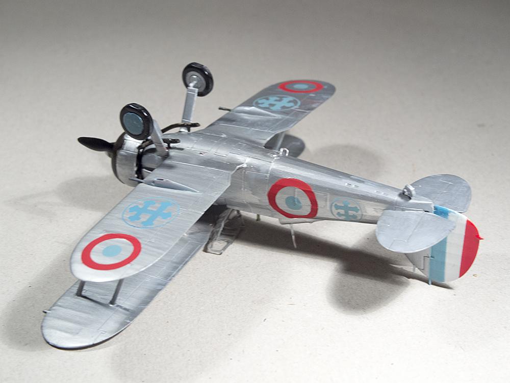 l'avion peint et décoré