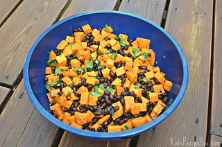 SweetPotatoBlackBeanSalad | by katesrecipebox