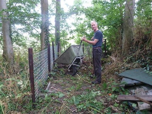 Kees Bergen bij het compostgedeelte