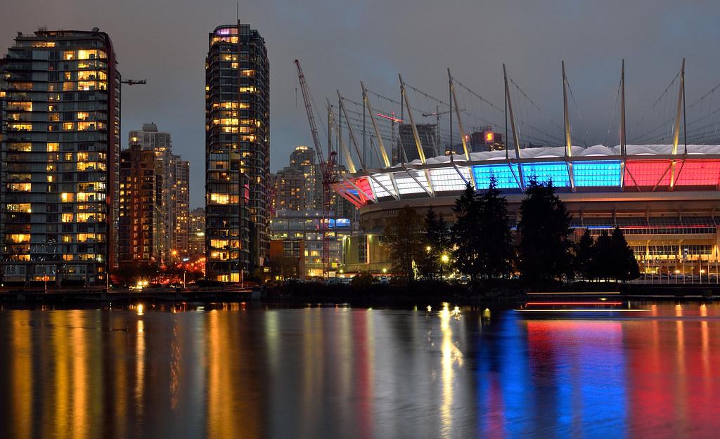 Je Suis Paris, from BC Place, Vancouver
